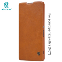 Nillkin For Sony Xperia Xa Ultra Cover Vintage Qin Flip Cover PU Leather Case PC Back