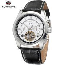 FORSINING Men's Watch Antique Tourbilion Autoamtic Auto-date Leather Top Brand Analog Dress Wristwatch FSG625M3