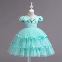2019 Elegant Kids Girls Dresses Floral Tutu Dress Wedding Pageant Outfits Toddler Girl Princess Dress Party Children Clothing стоимость