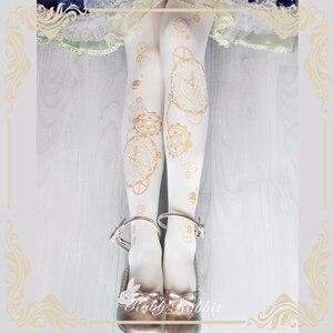 Image 3 - Steampunk rajstopy astrologiczny zegar i przekładnia drukowane Lolita rajstopy/rajstopy 120d aksamitne rajstopy