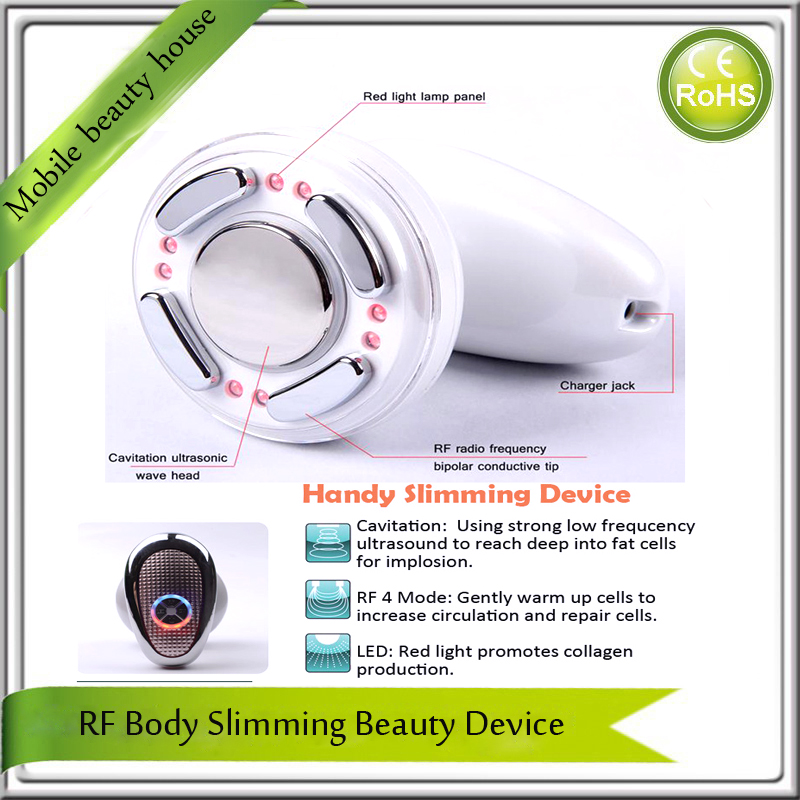 Rechargeable Ultrasonic RF Radio Frequency Fat Burning Weight Loss Skin Tightening Led Photon Body Beauty Slimming Device ultrasonic cavitation bipolar rf radio frequency vacuum fat burning skin tightening body belly arm leg slimming beauty machine