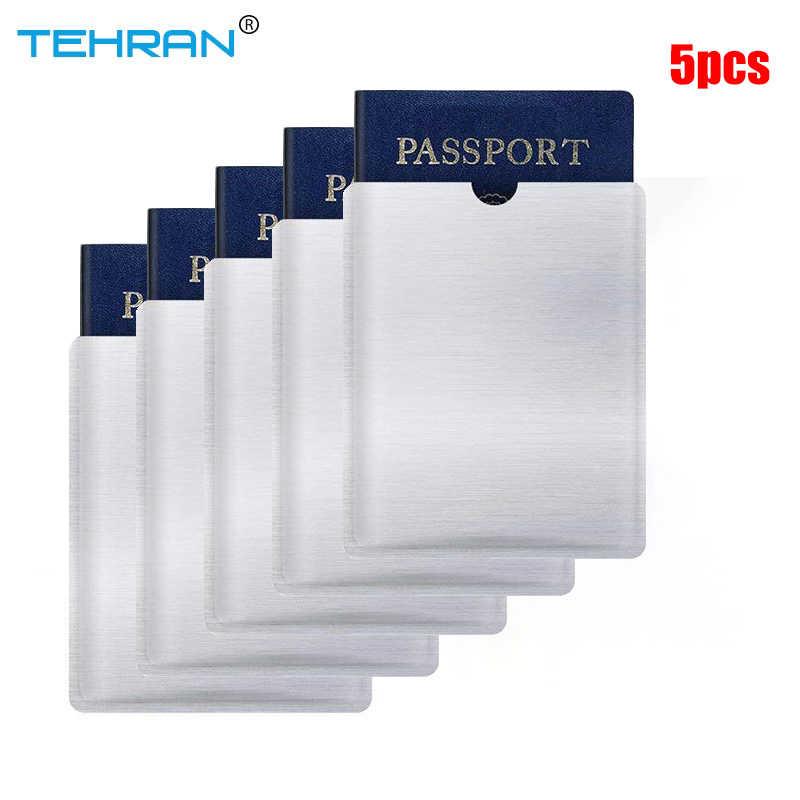 5 пакет RFID Блокировка рукава Противоугонная RFID визитница RFID Блокировка рукав идентификация 5 паспорт карта набор кошелек карман