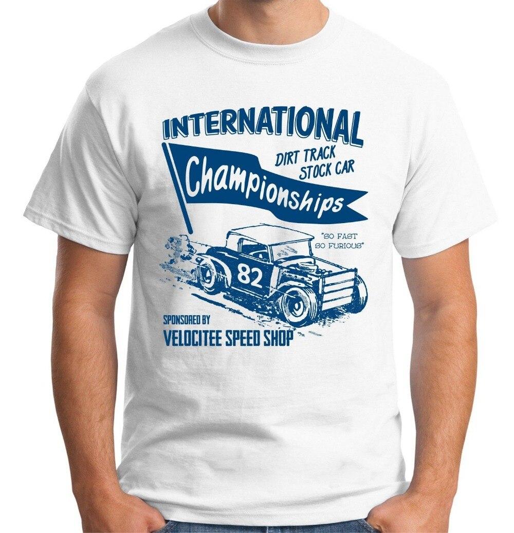 T Shirt Top Crew Neck Companies Dirt Track Stock Car Rat Rod Old ...