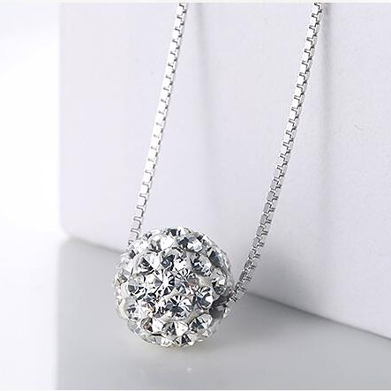 Yu Xin Yuan Fine Jewelry 925 Silver Zircon Indy Fashion Necklace Charm Pendant Women Favourite Jewelrypalace