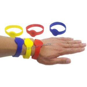 Image 4 - Polsband 125 Khz EM4100 Id Siliconen Proximity Smart Armband Ronde Hoofd Size 70 Mm Horloge Kaart Contactloze Rugged Silicon