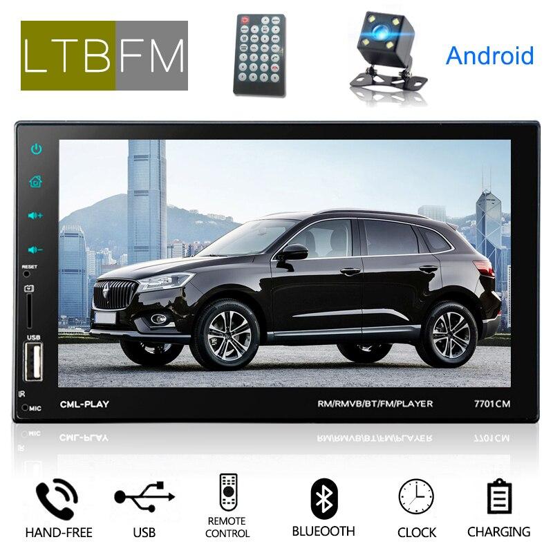 LTBFM 7 pouces écran tactile Autoradio Android Autoradio 2Din MP5 lecteur multimédia voiture Audio Bluetooth voiture stéréo avec lien miroir