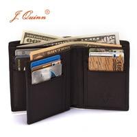 J Quinn 100 Full Genuine Leather Wallet Design Export Selling Card Men Short Wallet