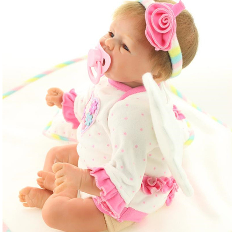 40 cm/16 Inch Soft Silicone Reborn Dolls with Clothes,Vivid Reborn Baby Toys for Kid's Birthday Gift Free Shipping high quality candy grabber kids birthday party favors gift desktop mini dolls grabber machine claw toys free shipping