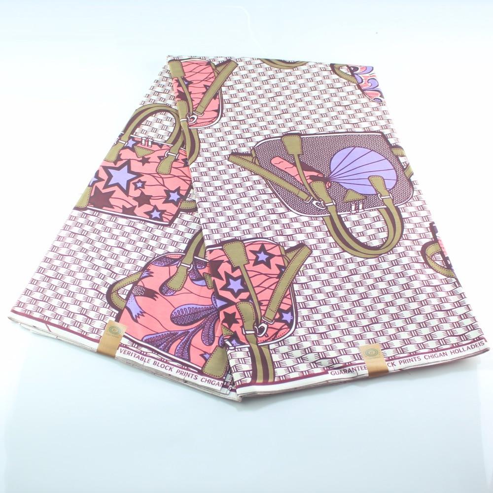 Dashiki African Wax Real Dutch Fabric Blue Yellow Fancy Bag Pattern High Quality
