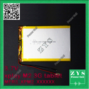 Safety Packing (Level 4) 3.7V Li-ion battery for xplay M2 3G tablet pc High capacity,With Battery Protection Board,Free shipping