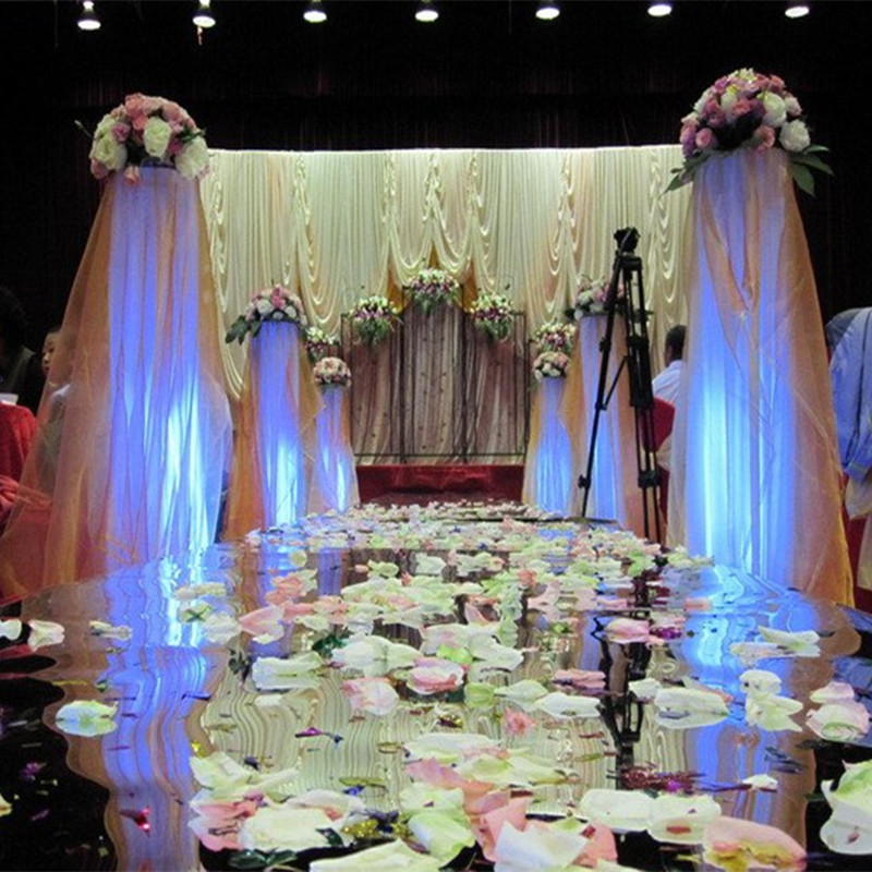 10 meter/lot 180cm Width Silver Wedding Carpet,T Stage Carpet Runner Wedding Party Stage Marriage Decoration 0.13mm thickness,