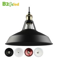 B2oc Industrial Retro Style Art LED Pendant Light Black White Edison Light Bulb American Village Lamps