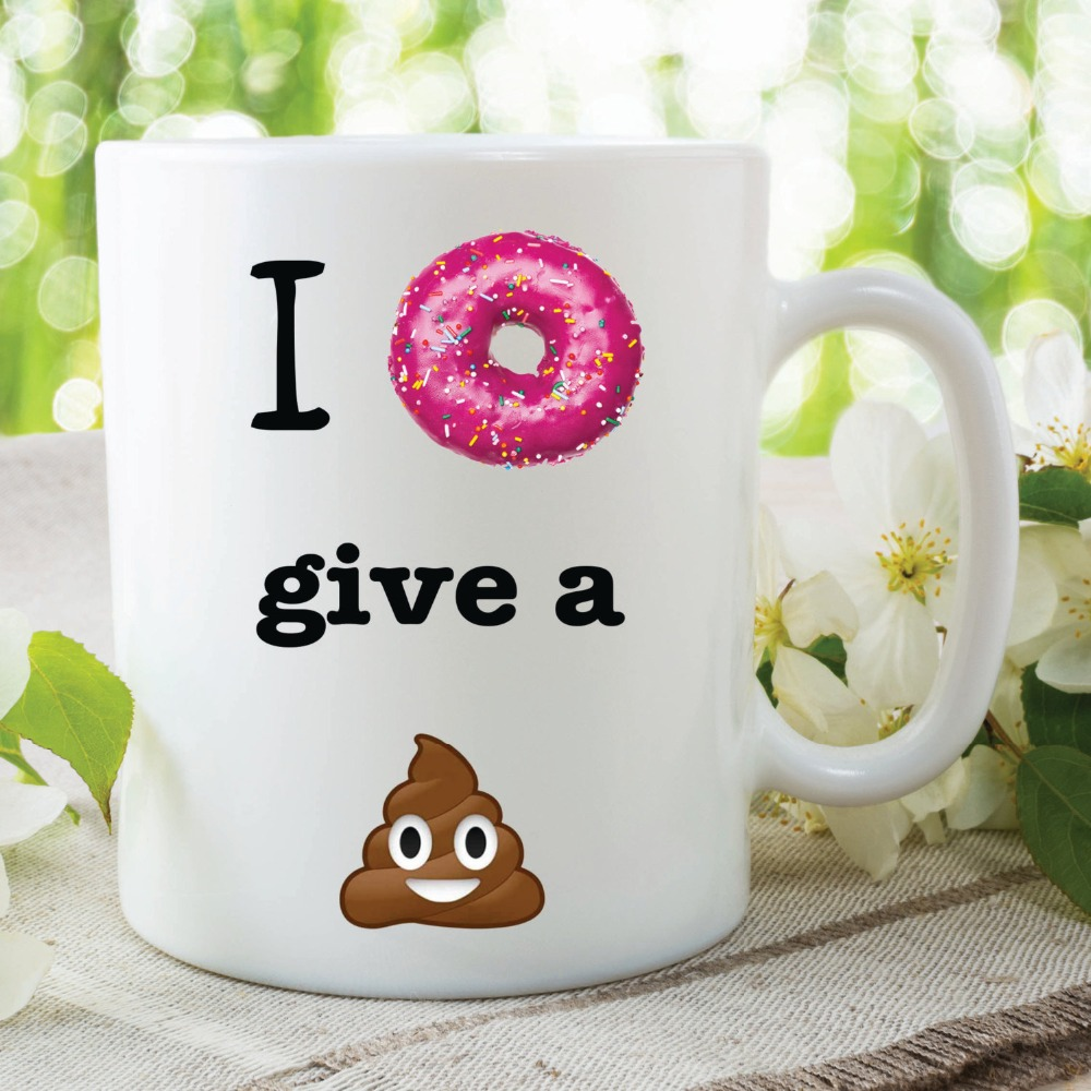 Donut mug joke Coffee mugs Cups home decal wine mugen whiskey beer ceramic mug