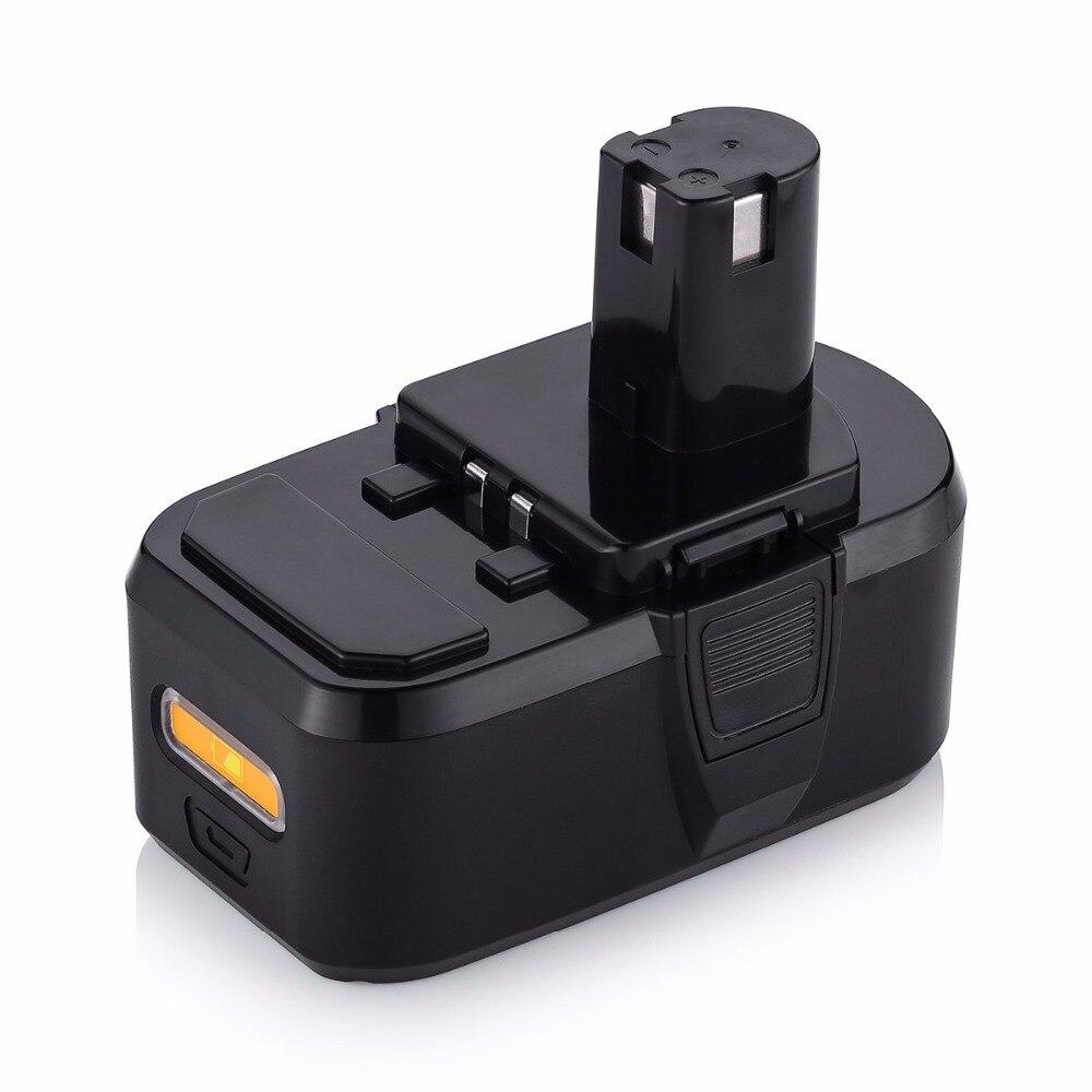 powerextra 4500 mah li ion akku für ryobi werkzeug 18 v batterie