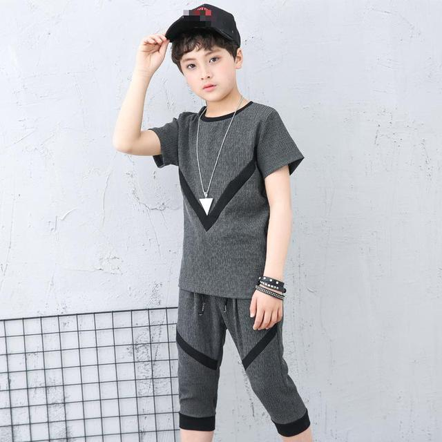 4e642483a Teenage Baby Boy Clothes Set 4 5 6 8 9 10 11 12 13 14 Years Summer ...