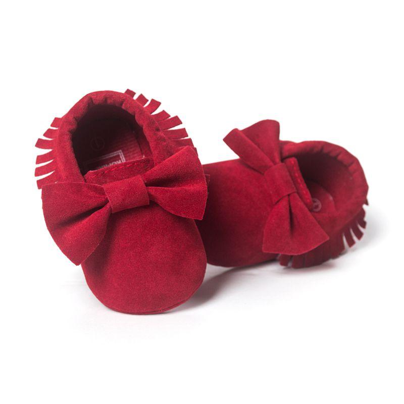 6c6ec59d Lindo Fringe Baby Soft sole pu Suede Zapatos de cuero infantil Toddler  Moccasin prewalker x16