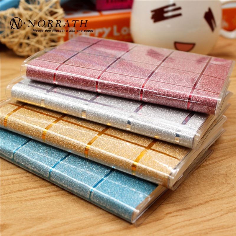 NORRATH Kawaii Stationery Cute Skinnende Gitter Mini Notebook Memo Pad Post It Office School Gaveartikler Notepad