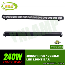 40inch 240w  CREE single row Led Light Bar Driving Offroad Light Spot/flood/combo 10V- 70V 17333LM for 4x4 ATV UTV USE IP68 стоимость