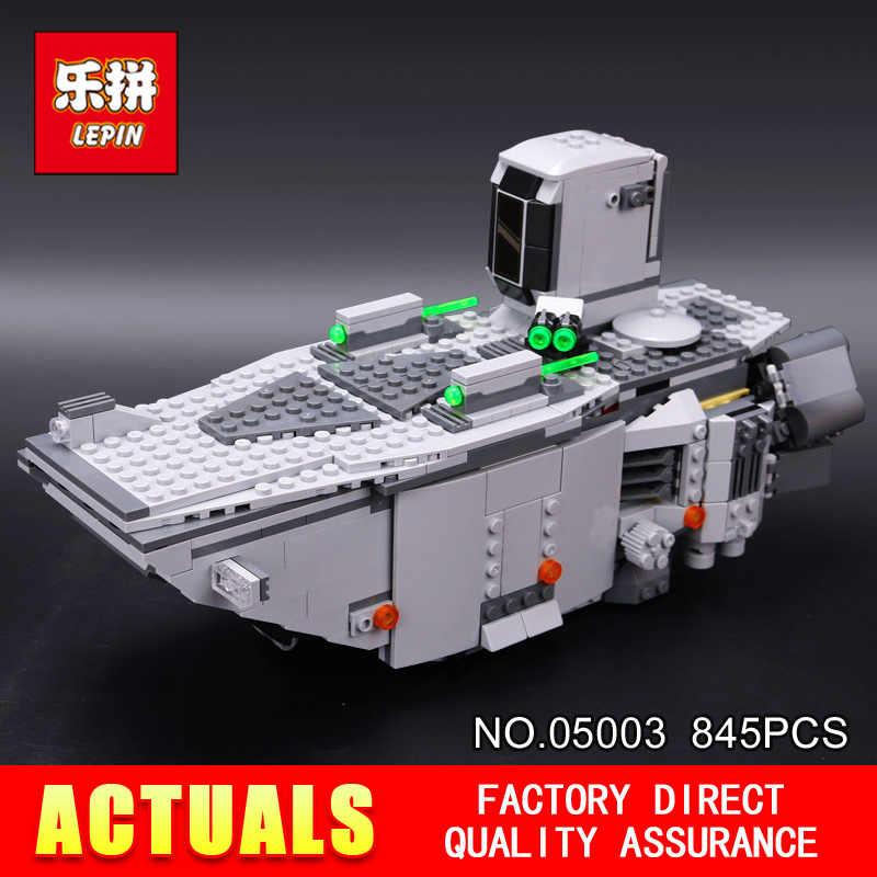 LEPIN 05003 Star 845Pcs toy Wars Force Awakens First Order Transporter Toys Building Blocks classic model Educational DIY 75103 new 845pcs star wars first order transporter model building blocks bricks toys compatible with legoingly starwars children model