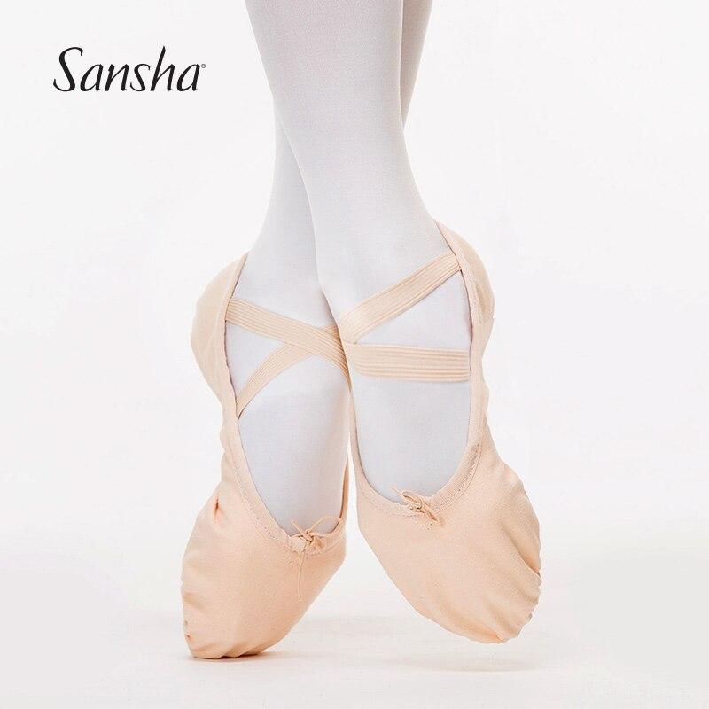 sansha basic canvas ballet soft shoes with competitive