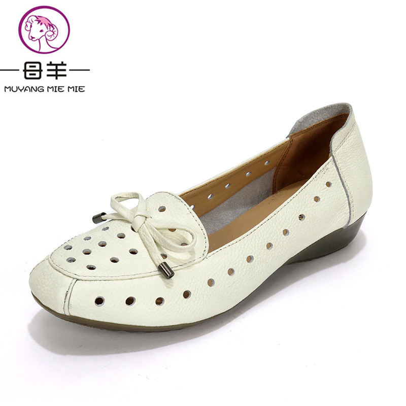 MUYANG MIE MIE Summer Shoes Woman Genuine Leather Flat Sandals Causal Comfortable Women Sandals 2018 New Fashion Women's Shoes парогенератор mie bravissimo