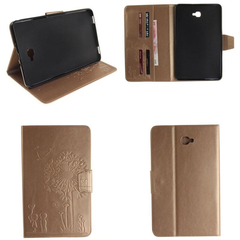 TX Luxury Gold Flip funda cases shell skin Cover For Samsung Galaxy Tab A 10.1 inch 2016 T585 T580 SM-T580 T580N SM-T585C