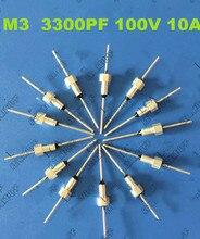 (100 шт.) Emi фильтр конденсатор Проходные Конденсаторы серии M3/3300PF/100VDC/10A/332