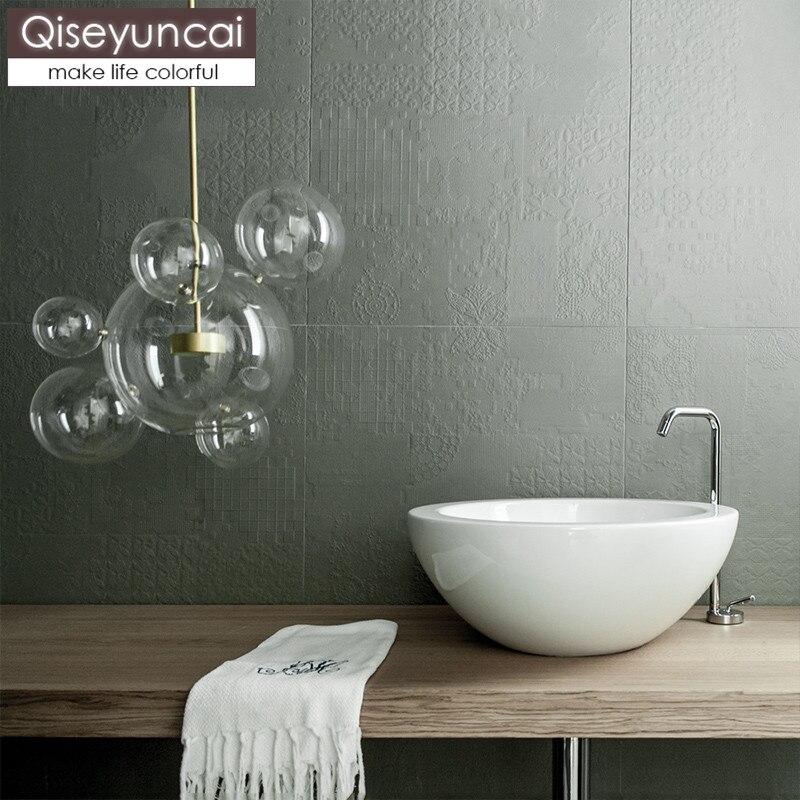 Qiseyuncai Nordic restaurant creative chandelier postmodern minimalist molecular glass ball bubble light cafe bar lighting