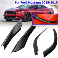 4 шт. АБС карбоновое волокно заднего вида зеркальная крышка Накладка наклейки украшения для Ford для Mustang 2015-2018 автомобильные аксессуары для укладки