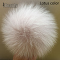Super Big 14-15cm colorful Arctic Fox fur pompoms luxury Fur balls for knitted wool hat cap winter beanies real fur pom poms