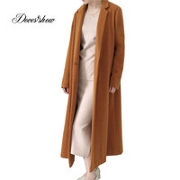 Hand Made Women Long Plaid Cape Cashmere Coat New Winter Wool Jacket Overcoat Casaco Feminino abrigos mujer invierno 2018 New
