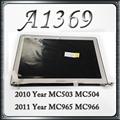 Original A1369 LCD Display Complete Full Assembly For Macbook Air 13'' MC503 MC504 MC965 MC966 2010 2011 Year Repair Part Tested
