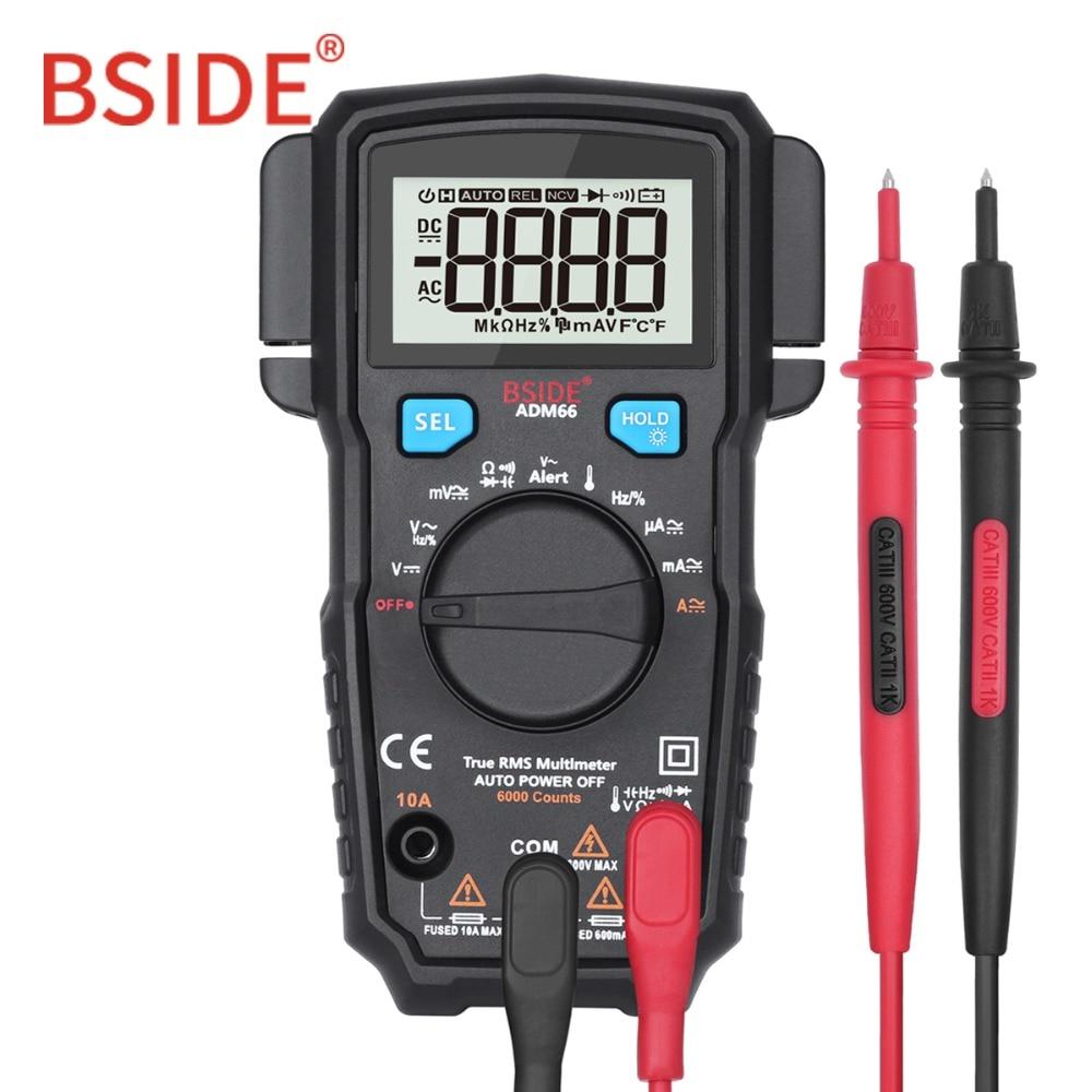 BSIDE ADM62/66 Auto Range True RMS Digital-Multimeter DC/AC Amperemeter Auto Voltmeter Spannung Anzeige Besser als mastech MS8239C