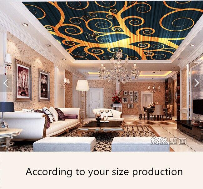 Aliexpress.com : Acquista Personalizzato soffitto carta da parati, astratto modelli per il ...