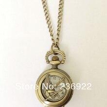 Модные ювелирные изделия Винтаж Шарм Голодные игры карманные часы ожерелье Dia28mm, оригинальная поставка с фабрики