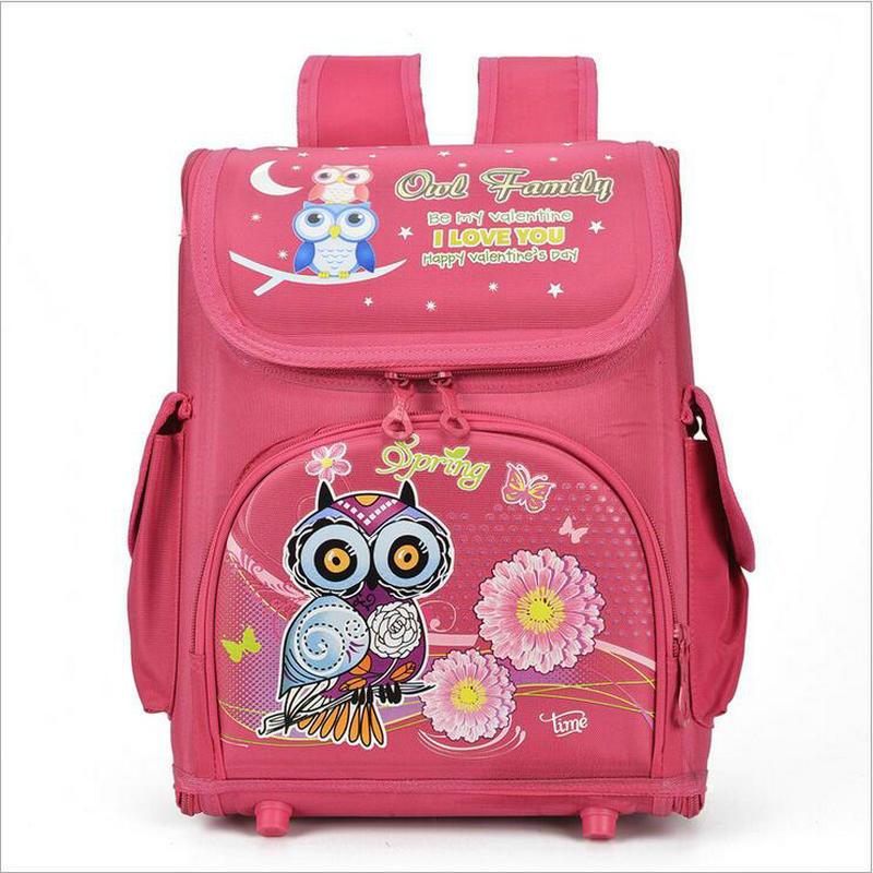 2018 Fashion EVA School Bags Orthopedic Car Boys Girls Backpacks for Primary Students Owl Cartoon High Quality Schoolbags