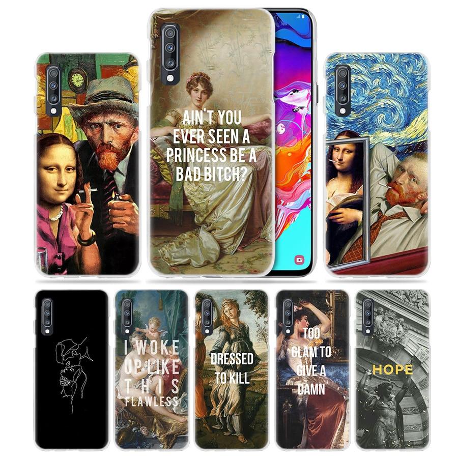 Art-Case Phone-Cover A50 Funny A70 A20e Samsung Galaxy Clear A6 Plus For A50/A70/A20e/..