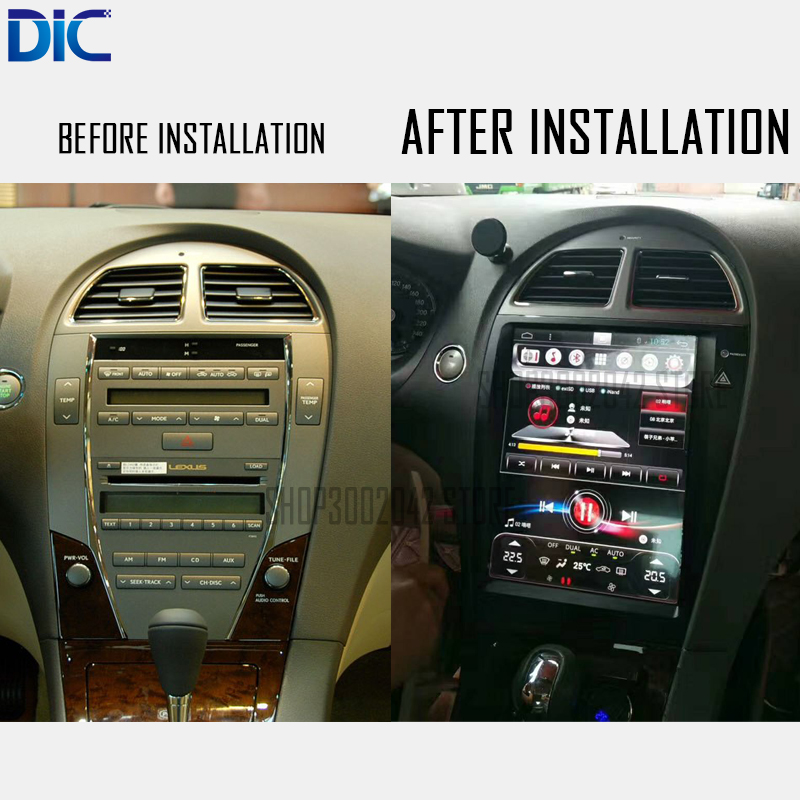 DLC Android system Navigation GPS player Video autoradio Steering-Wheel bluetooth For <font><b>lexus</b></font> 2006-2012 ES 240 <font><b>250</b></font> 300 350 image