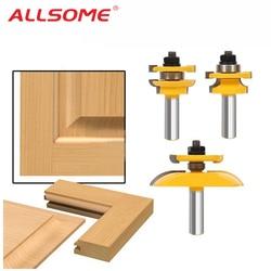 3 sztuk 1/2 ''szyna trzonka i Stile Ogee ostrze Panel zestaw wierteł frezarskich frez elektronarzędzia drzwi nóż przyrząd do cięcia drewna|tool door|power cuttertool tool -