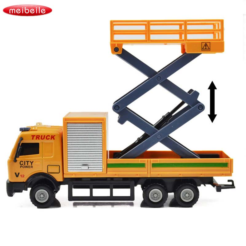 1:48 Racing Shop Car Carrier Vehicle Garbage Truck Diecast Toy Vehicles Toys For Children Truck Toy Ladder Truck Various Styles