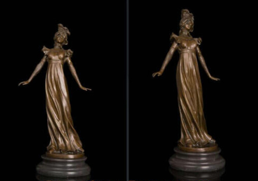 Art Deco Sculpture Lovely Woman Girl Bronze Statue decoration bronze factory outletsArt Deco Sculpture Lovely Woman Girl Bronze Statue decoration bronze factory outlets