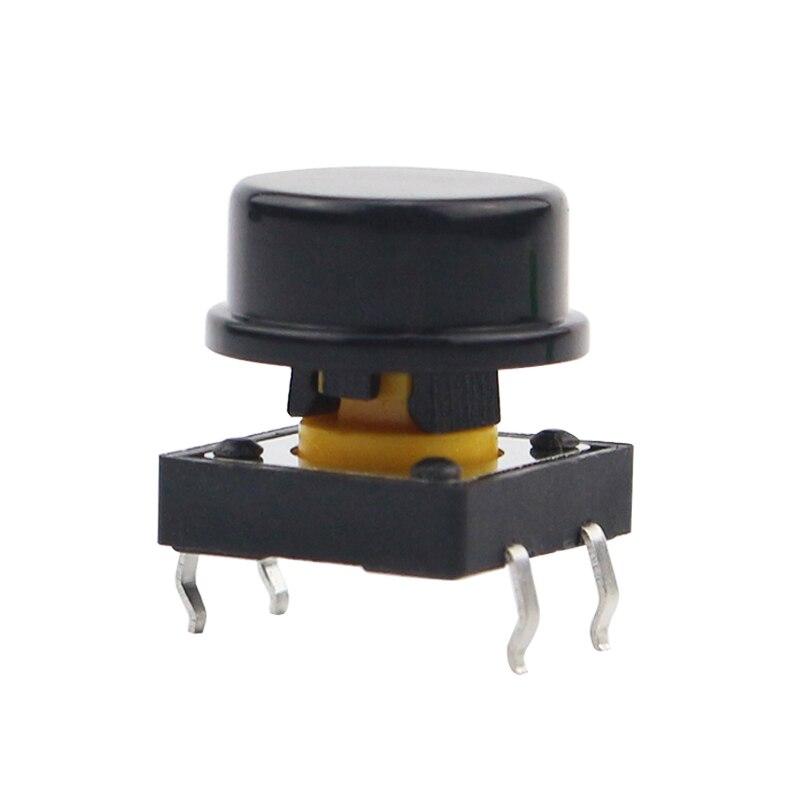 1pcs 12*12*7 Mm Light Touch Switch Key DIP4 ON/OFF  4pinTouch Button Touch Micro Switch DIP + Switch Key Hat For DIY