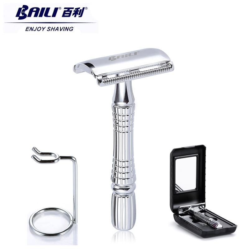 BAILI Upgrade Wet Shaving Safety Razor Shaver Handle