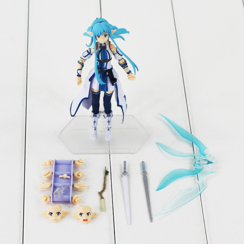 Japan Anime Sword Art Online Figma 264 PVC Figure Action Kids Model Toys Collection Doll Cute Gifts13cm With Box j g chen free shipping japanese anime sword art online asuna pvc action figure toy 22cm cute aincrad figure with box