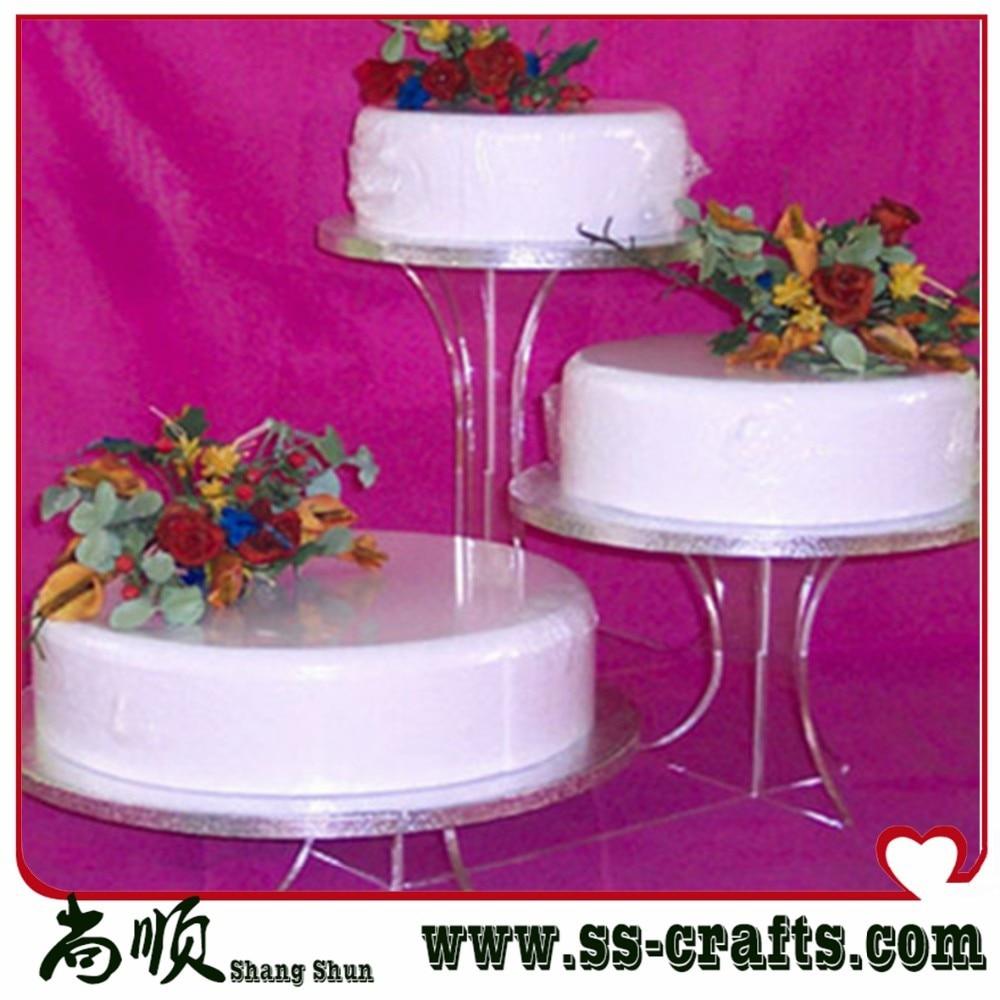 3 Tier Acrylic Bracket Birthday Wedding Cake Stand-in Cake ...