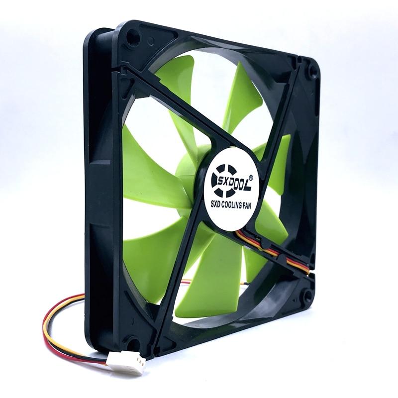 New 140mm Fan DF1402512SEL DC 12V 0.12A Sleeve 3-Pin 140x140x25mm Pc Case Server Cooling Fan 1500RPM