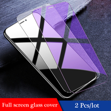 2Pcs/lot 9H Tempered Glass For Apple iPhone X 7 8 Plus Transparent Screen Protector Protection Film