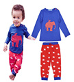 Boys kids sets pajamas Baby Set Elephant printing coats/sweatshirts+Star pattern pants Kids casual sets boy long sleeve clothing
