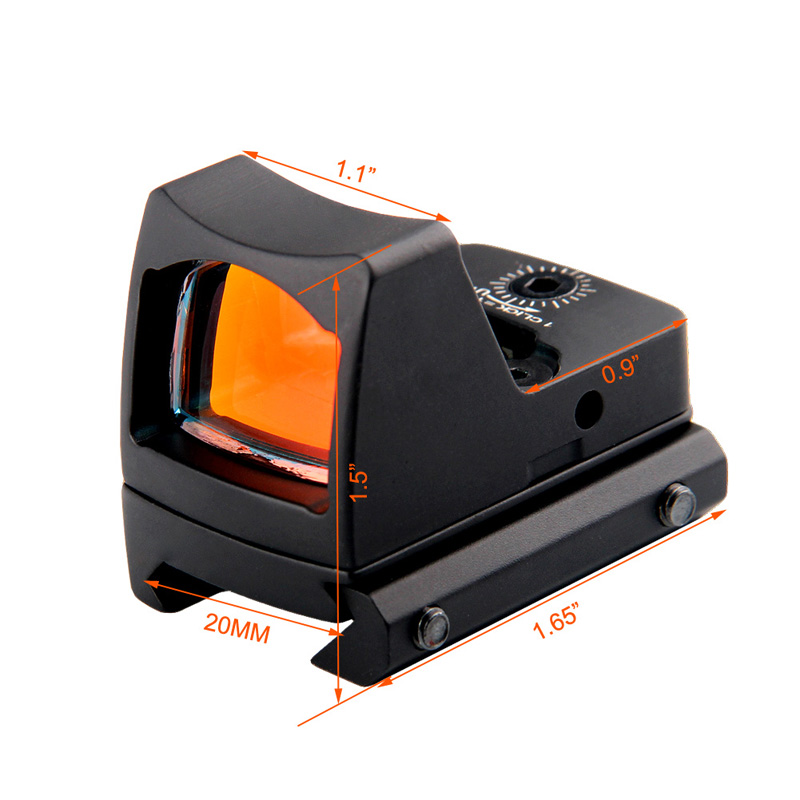 Tactical RMR Reflex Red Dot Sight Scope without OnOff Button RL5-0033-13