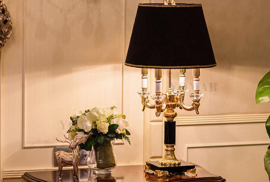 Zwarte Slaapkamer Lamp : Hoge kwaliteit luxe mode zwarte kristal tafellamp slaapkamer